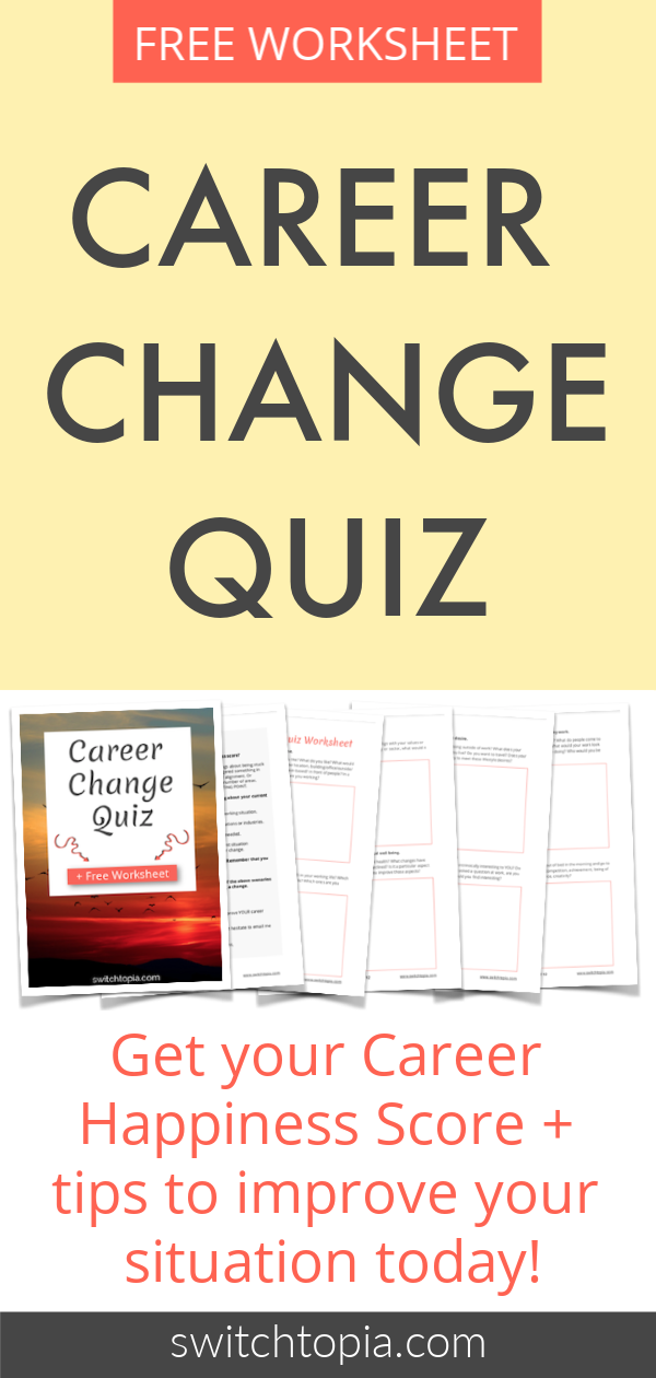 Career Change Quiz Plus Free Worksheet - Discover Your Career Happiness Score
