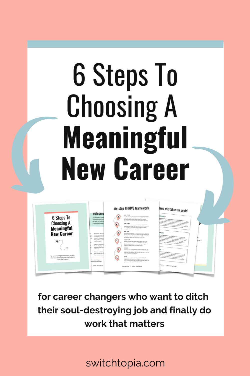 Ready for a career change? Wanting to find purpose? Download the 6 Steps To A Meaningful New Career PDF. You'll learn the exact steps I took to decide on my new and purposeful career and change careers. Enter your name and email to download the PDF.